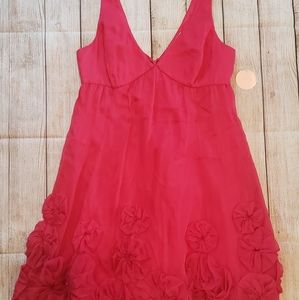 Rebecca Taylor Pink Party Dress, Size 4, NWT, Silk